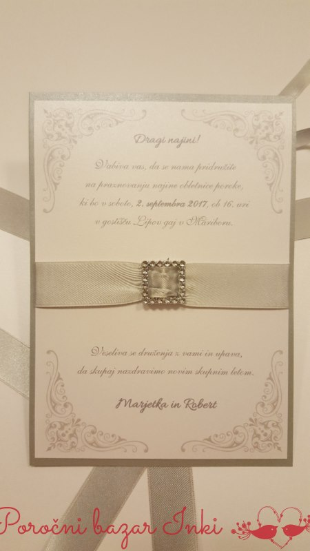 Vabilo na srebrno poroko