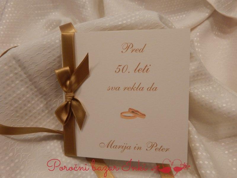 Vabilo za zlato poroko