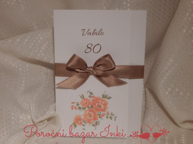 Vabilo za 80 rojstni dan