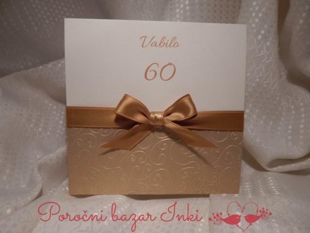 Vabilo za 60 rojstni dan