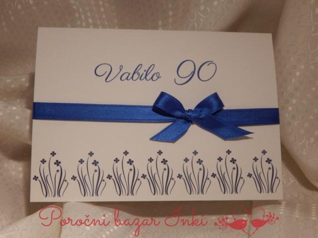 Vabilo za 90 rojstni dan