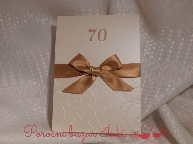 Vabilo za 70 rojstni dan